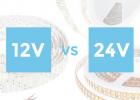difference between 12 and 24V strips