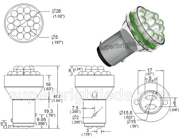 1157 led bulb  u2013 dual intensity 24 led