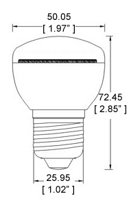 E27-xW42SMD-180 Diagram