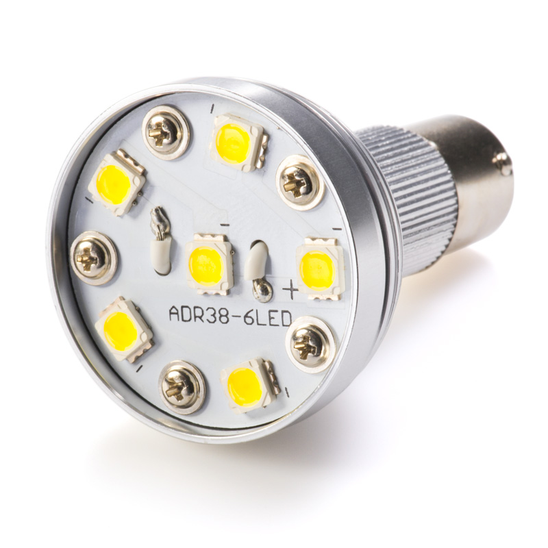 R12 Shape BA15S Bulb with 6 High Power White LEDs