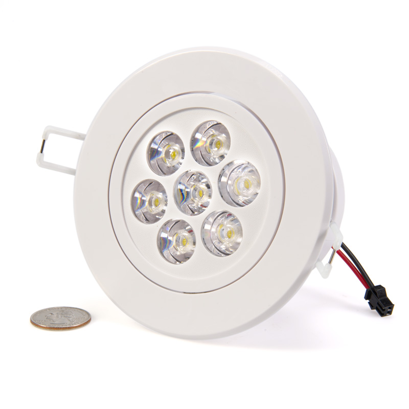 7 Watt LED Recessed Light Fixture - Aimable  Recessed LED Lighting  Super Bright LEDs
