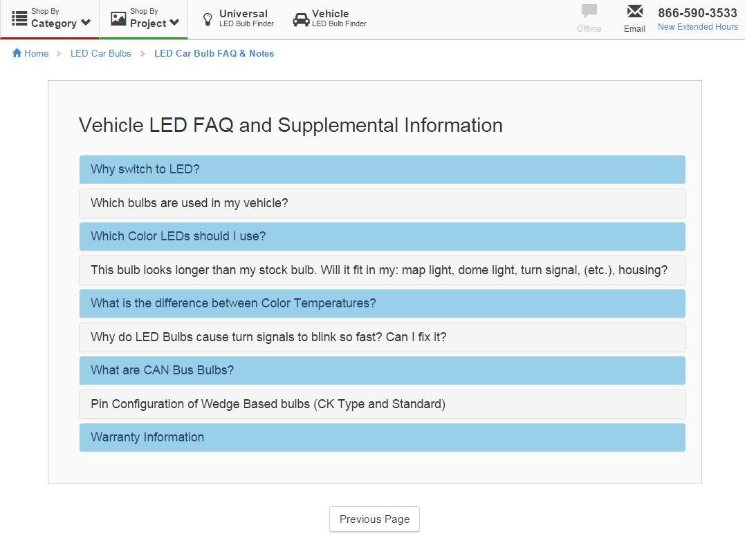 Vehicle LED Replacement Bulbs FAQ