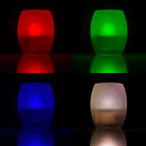 LED tea light with vase