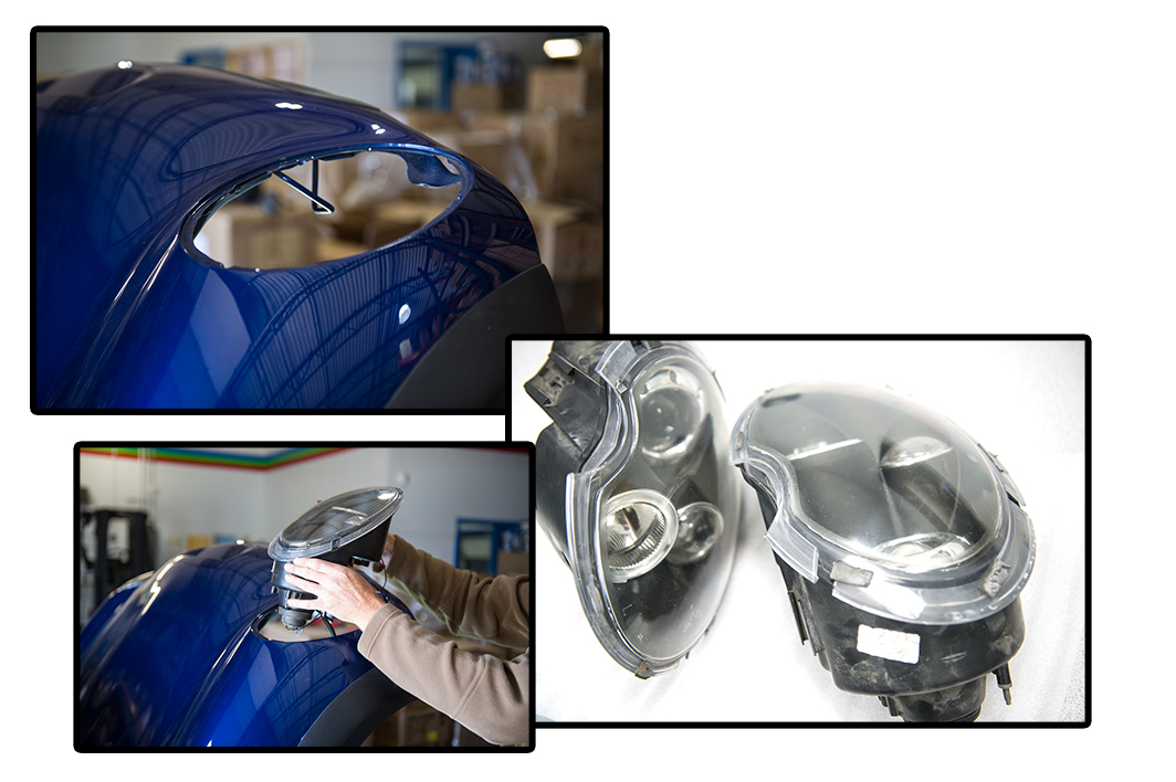 how to install halo headlights LED angel eye headlights - removal