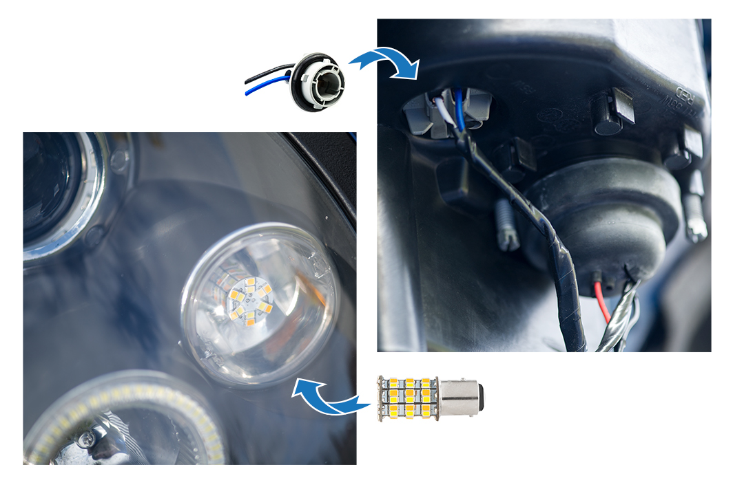 how to install halo headlights LED angel eye headlights - switchback