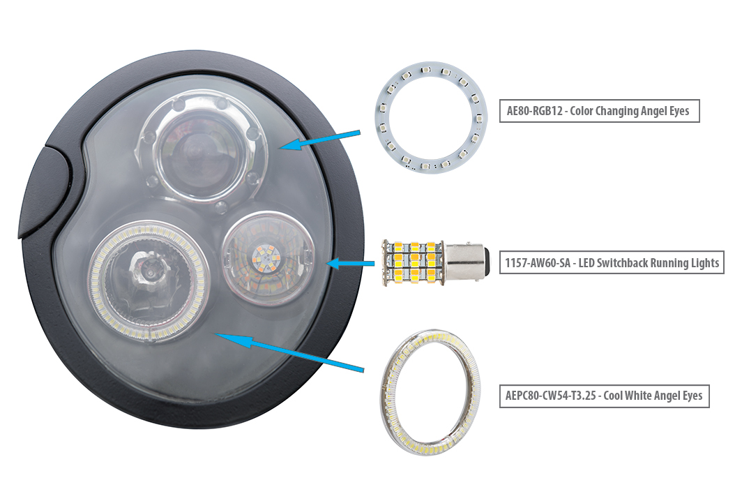how to install halo headlights LED angel eye headlights - products