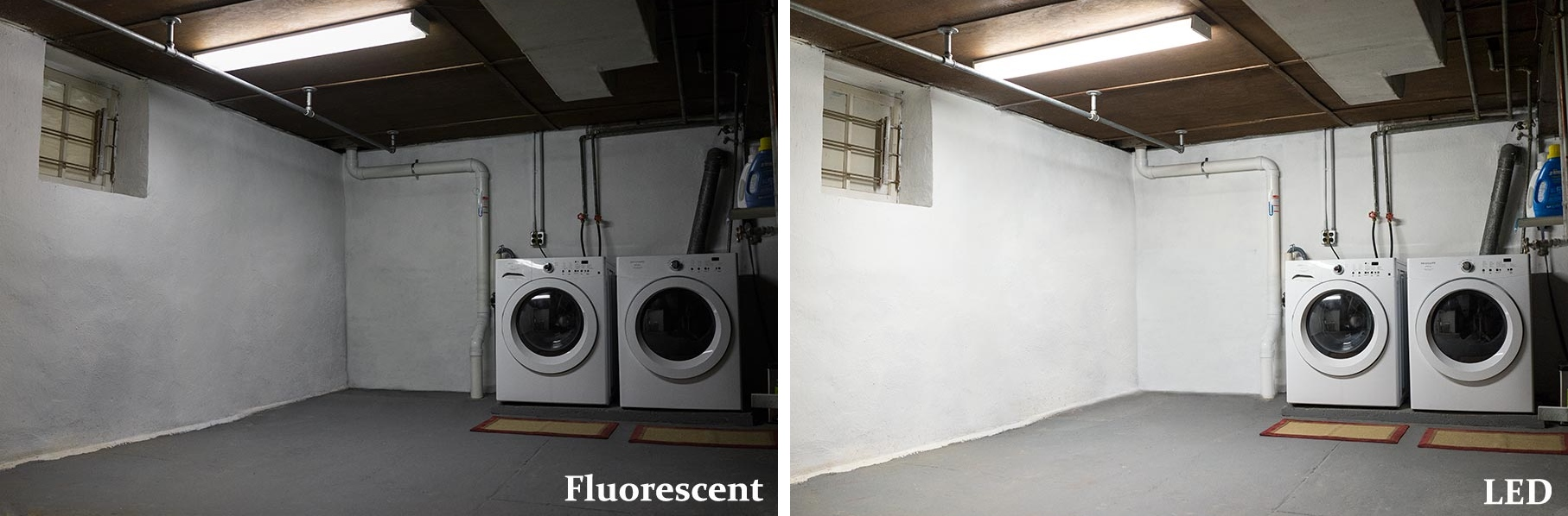 f32t8 LED T8 tube comparison against fluorescent