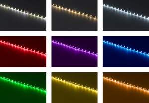 LED canopy tent lighting colors