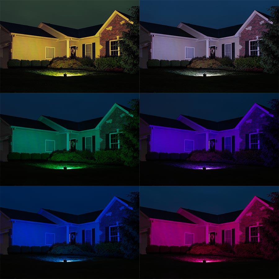RGBW LED flood lights for house