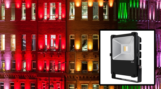 RGBW LED flood light app and product