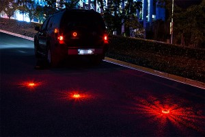 rechargeable LED road flares on road - father's day gifts