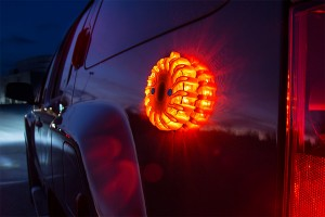 rechargeable LED road flares on car - father's day gifts