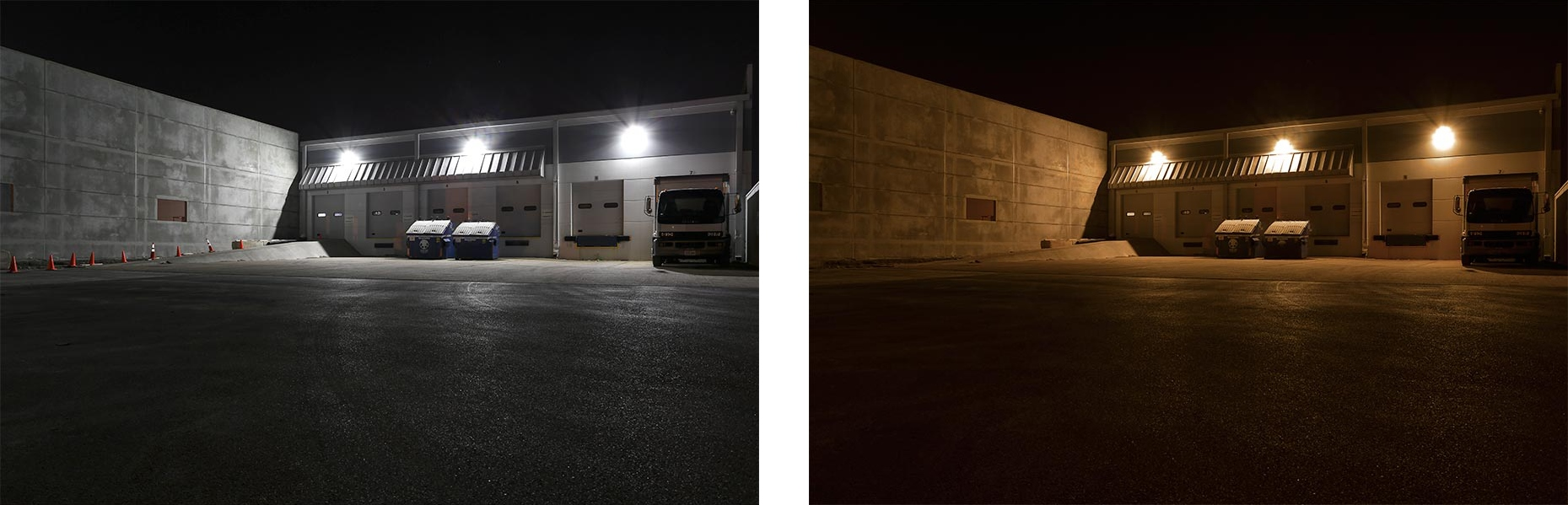 Making the switch to led parking lot lights superbrightleds led parking lot lights versus hid arubaitofo Image collections