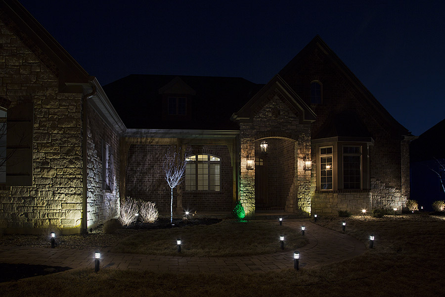 planning LED landscape lighting - final install