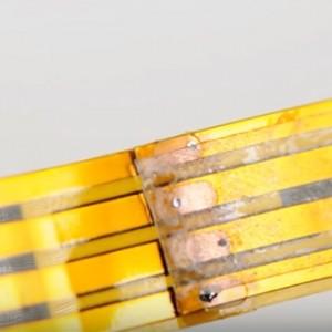 RGB LED strip lights step 5 - soldering LED strip lights