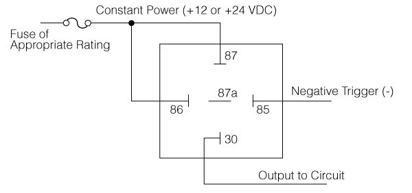 what is a relay - negative switching