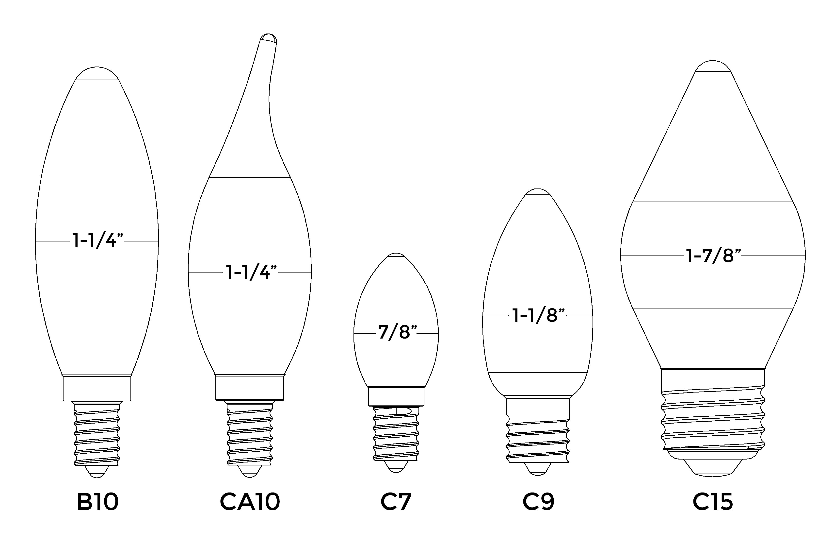B and C bulb drawings