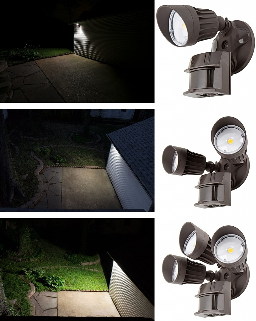 led motion sensor lights single double triple head - Led Motion Sensor Light