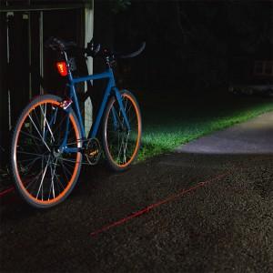 LED bike lights on bike - college gift ideas
