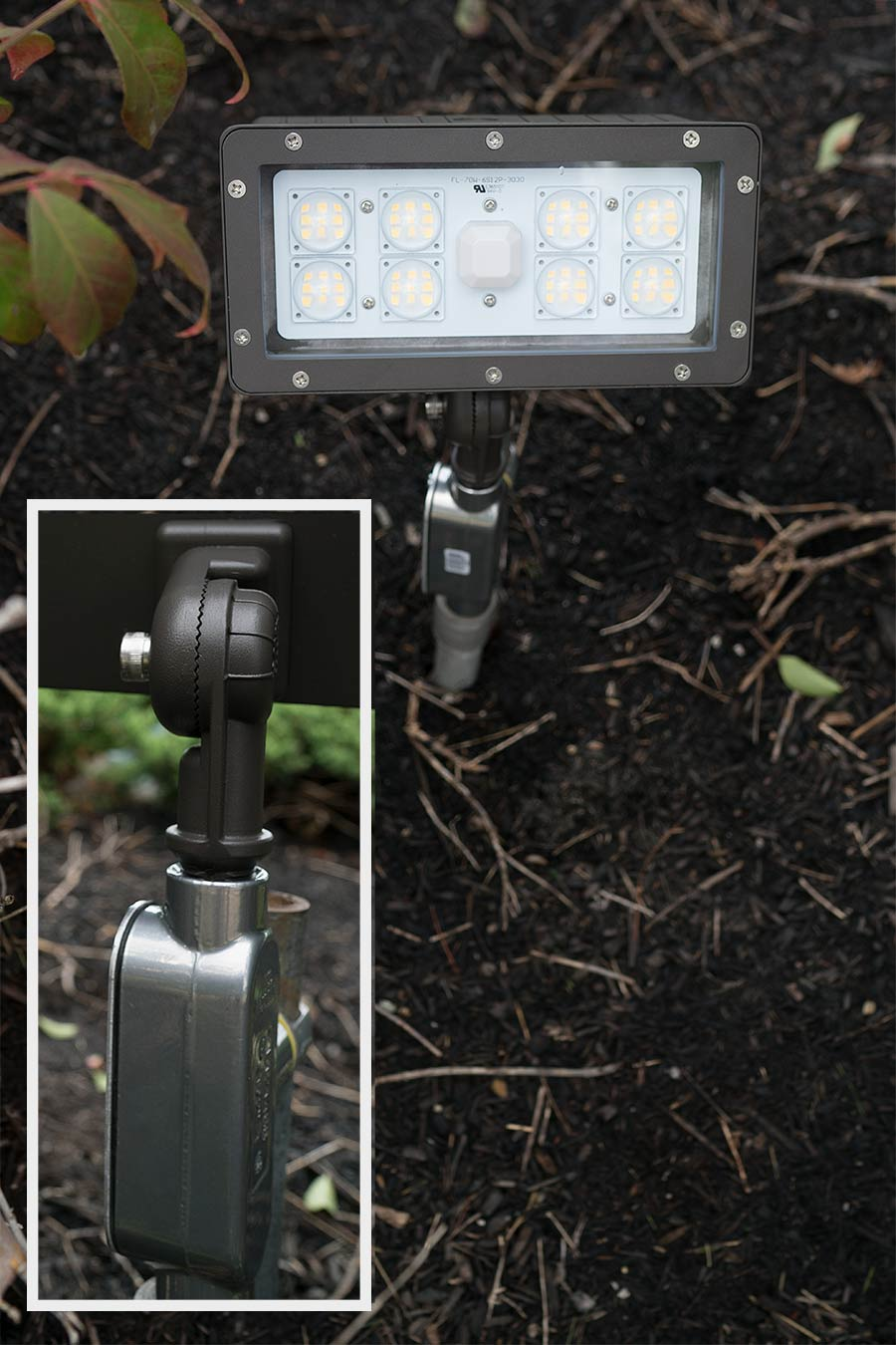 Knuckle Mount Led Flood Lights Illuminate Signs