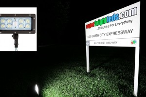 knuckle mount led flood light - sign lighting featured