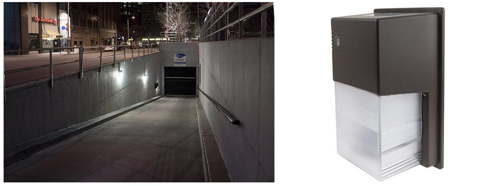 mini wall pack subway entrance