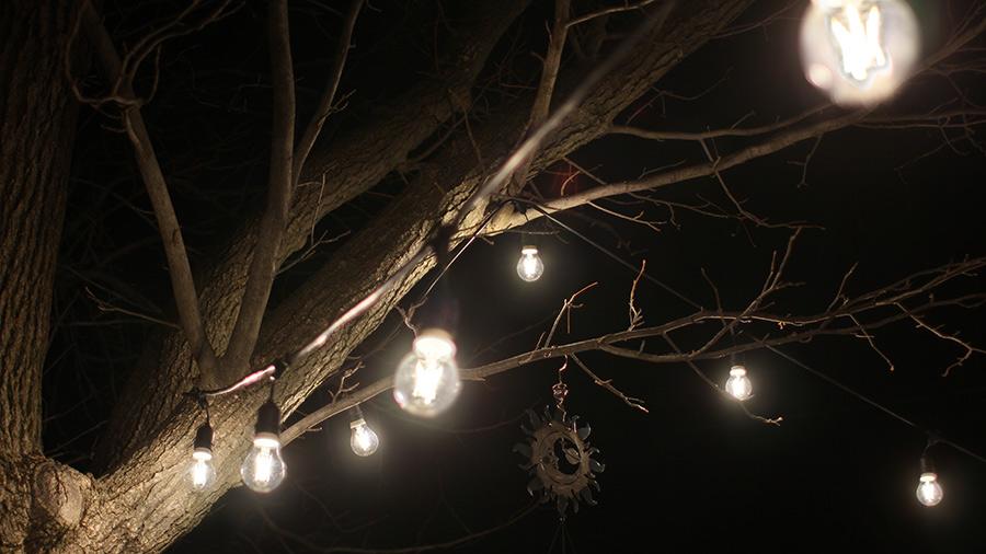 Halloween lights - patio LED string lights