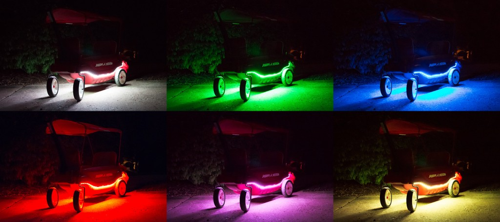 halloween lights led strip lights on wagon
