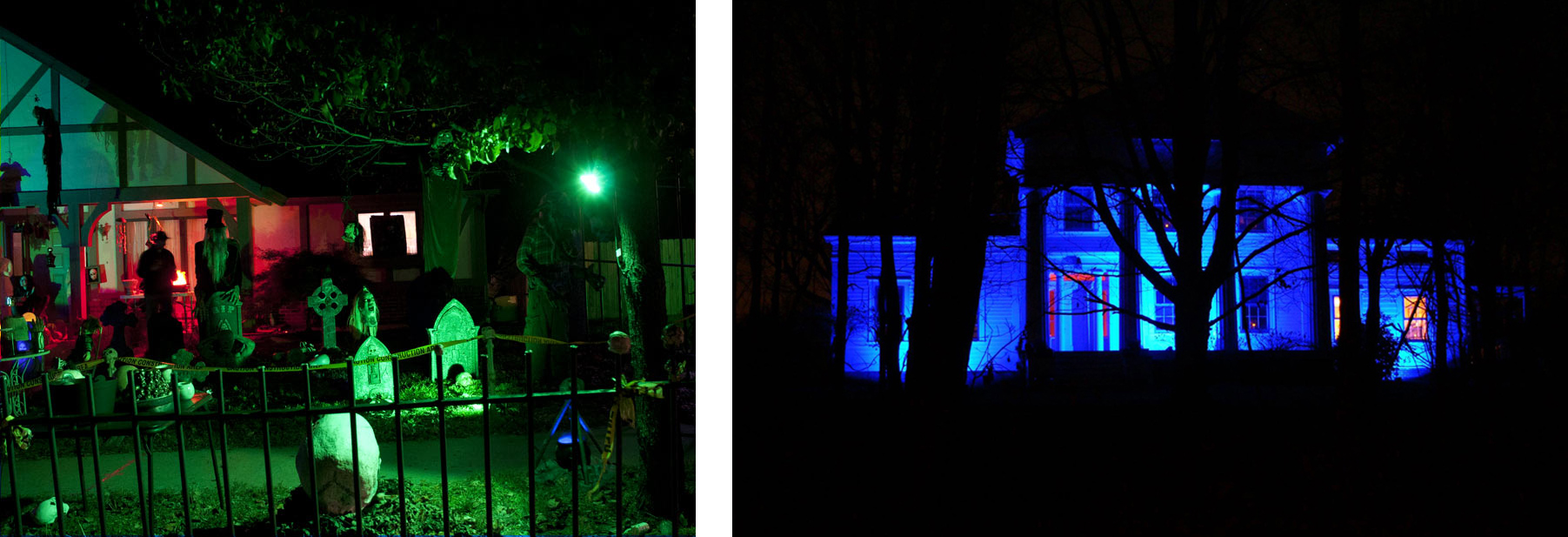 Halloween lights - LED flood light wall washing