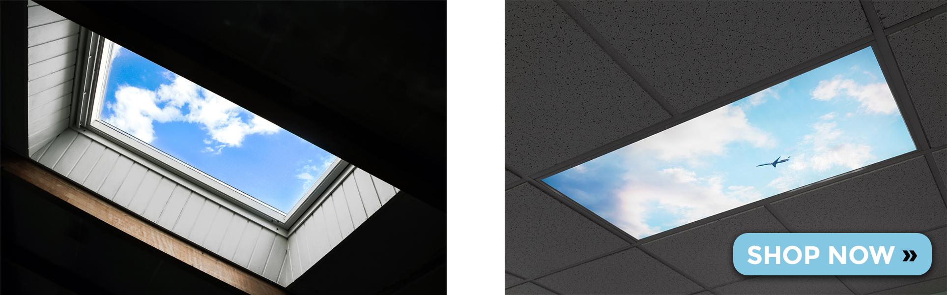Virtual Skylights LED Panel Light comparison