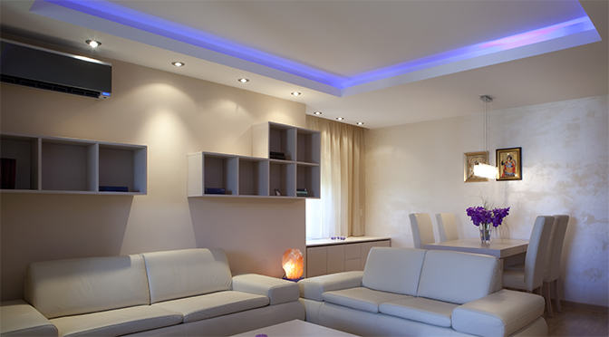 How To Light A Room With Led Lights Living Room