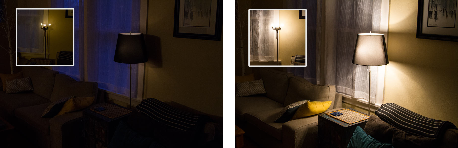 how to light a room with LED lights - dimmable LED lights