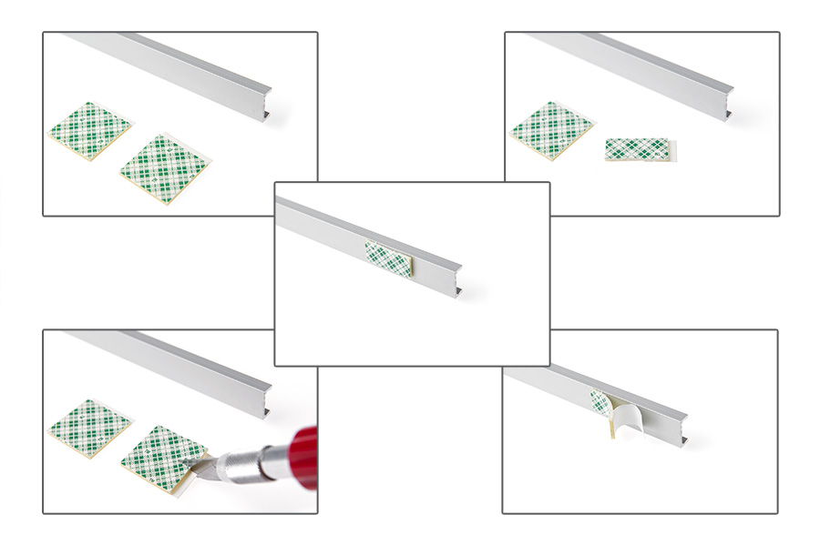 aluminum LED profiles double sided mount