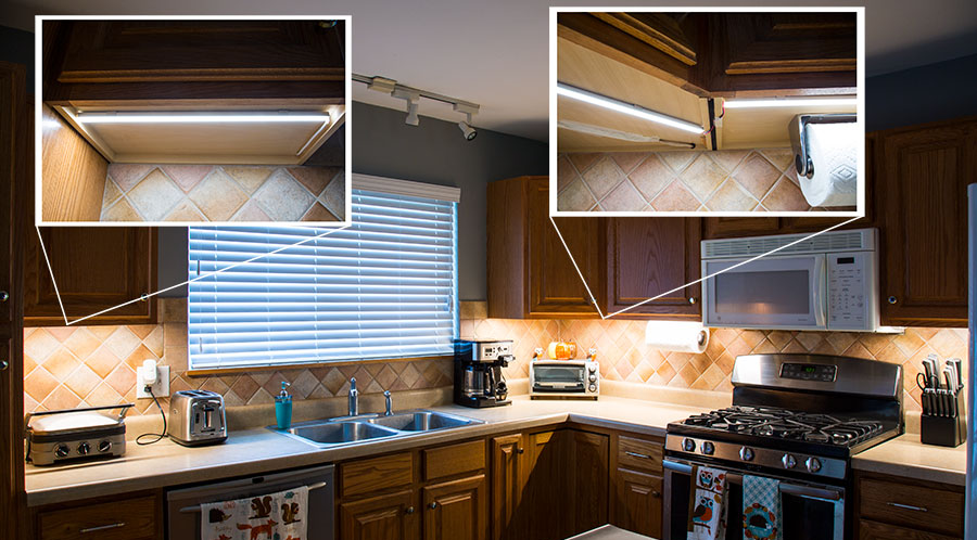 Aluminum LED Profiles Under Cabinets