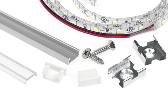 aluminum LED profiles materials