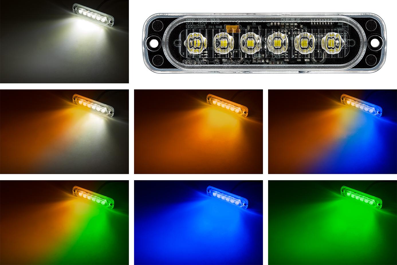 LED snow plow lights - low-profile strobe light