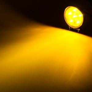 LED snow plow lights - round strobe on
