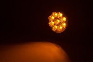 LED snow plow lights - round amber light on