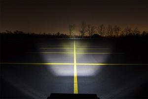LED snow plow lights - amber and white light bar beam