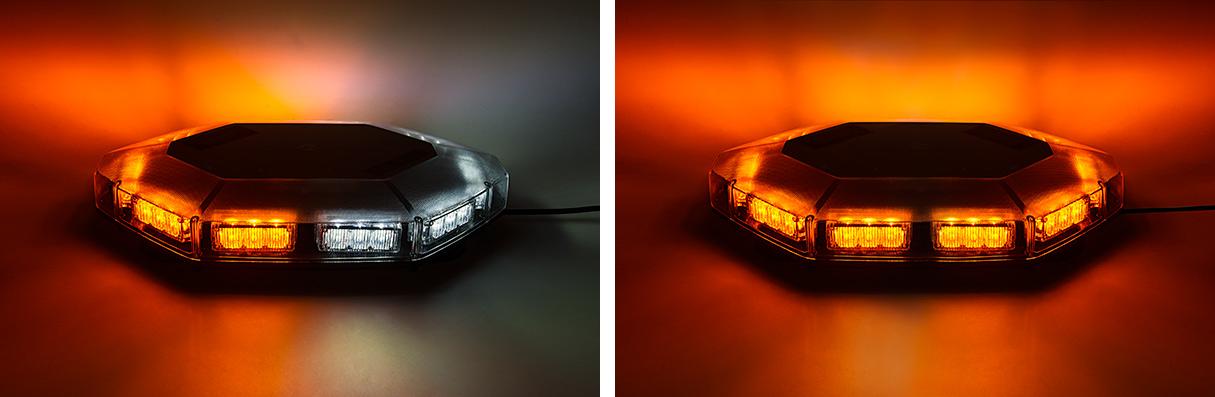 LED snow plow lights - mini light bars amber and white