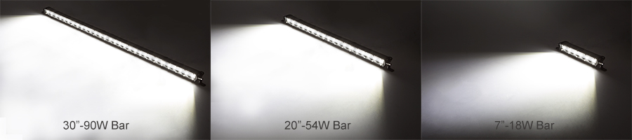 slim LED light bars - light output
