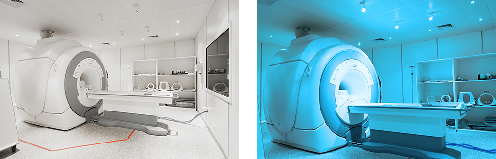 LED hospital lighting - MRI room RGB lights