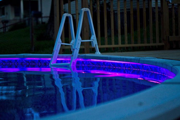 How to install above ground led pool lights super bright leds led pool lights installed aloadofball Gallery