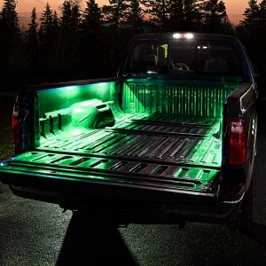 portable LED strip lights - green truck bed lights