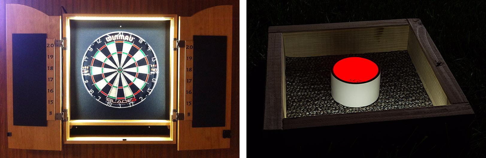 portable LED strip lights - indoor outdoor game lights