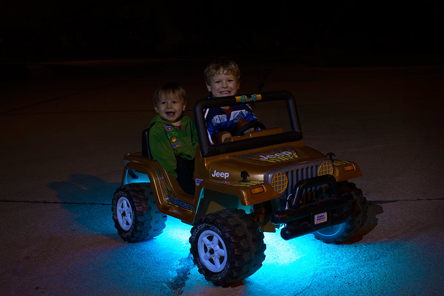 portable LED strip lights - power wheels lights