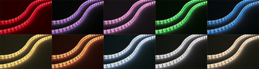 portable LED strip lights colors