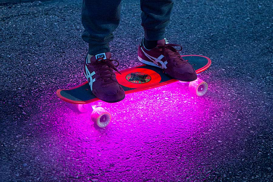 portable LED strip lights - skateboard lights