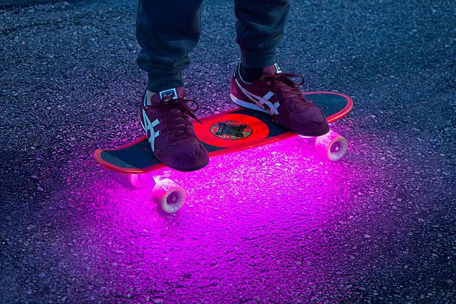 Get creative with portable led strip lights super bright leds portable led strip lights skateboard lights aloadofball Images