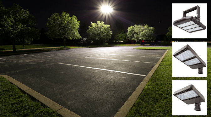 3000K LED street lights line
